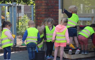 Aardbeientorens voor de kinderopvang
